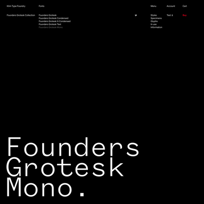 Klim Type Foundry · Founders Grotesk Mono fonts