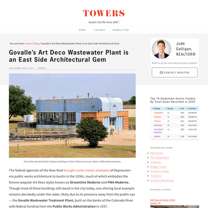 Govalle's Art Deco Wastewater Plant is an East Side Architectural Gem