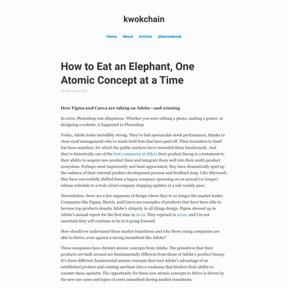 How to Eat an Elephant, One Atomic Concept at a Time - kwokchain