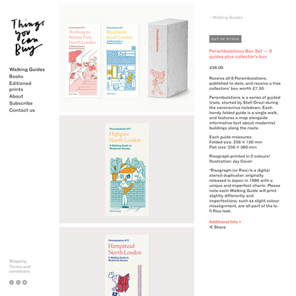 Perambulations Box Set — 8 guides plus collector's box — Things You Can Buy