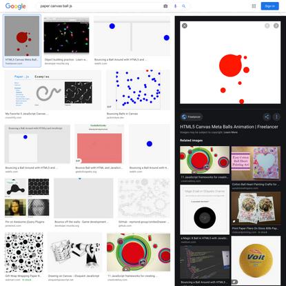 paper canvas ball js - Google Search