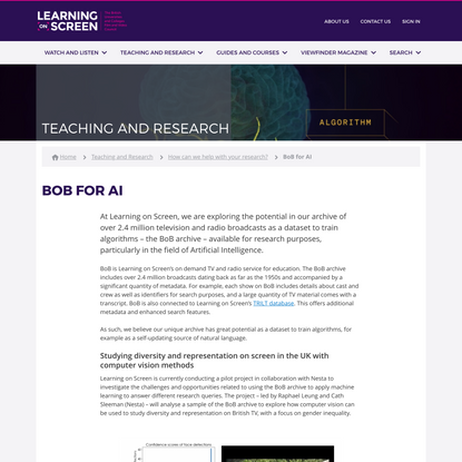 BoB for AI · Learning on Screen