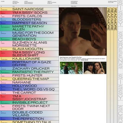 Sissy Screens — Queer Screen Culture