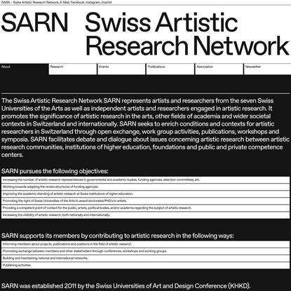 SARN - Swiss Artistic Research Network
