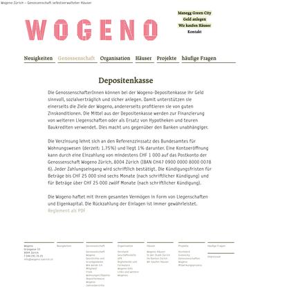 Depositenkasse - WOGENO