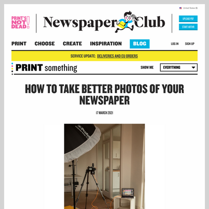 How to take better photos of your newspaper - Newspaper Club