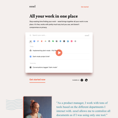 eesel - All your work in one place