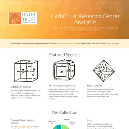 HTRC Analytics