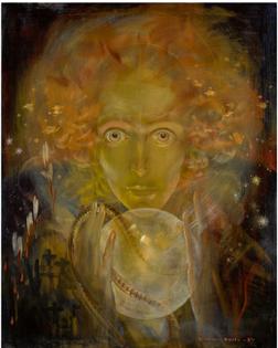 Karel van Belle (1884-1959) ~ The fortune teller, oil on canvas 1932.