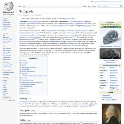 Tardigrade - Wikipedia