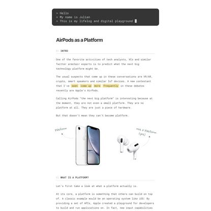 AirPods as a Platform