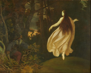 Moritz Von Schwind (1804-1871) ~ Apparation in the forest (from sleeping beauty) , oil on canvas, 1858.
