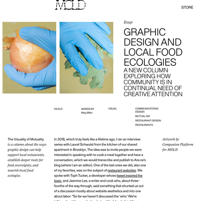 Graphic Design and Local Food Ecologies - MOLD :: Designing the Future of Food