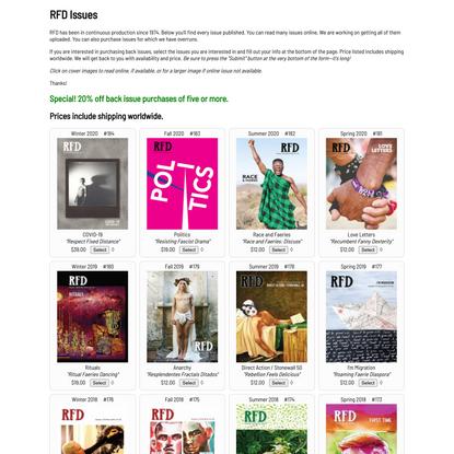 RFD Magazine Issues