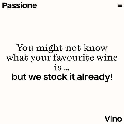 Homepage — Passione Vino