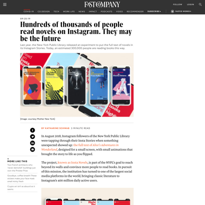 Hundreds of thousands of people read novels on Instagram. They may be the future