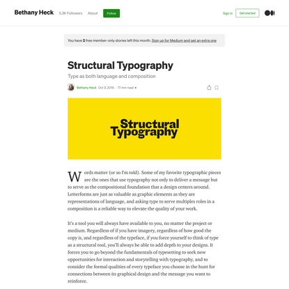 An Introduction to Structural Typography
