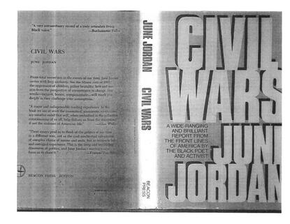 """""""Black Studies: Bringing Back the Person,"""" June Jordan (1969)"""