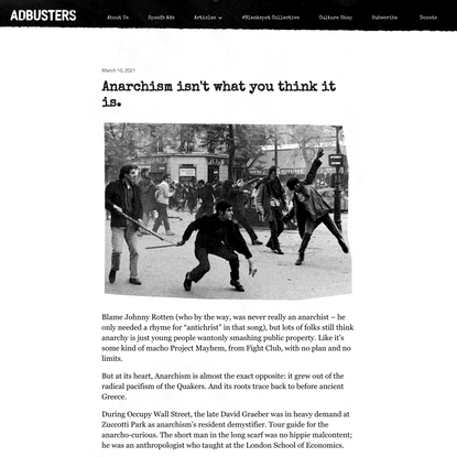 Adbusters New Homepage