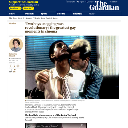 'Two boys snogging was revolutionary': the greatest gay moments in cinema