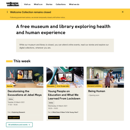 Wellcome Collection | A free museum and library exploring health and human experience