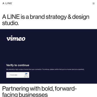 A LINE - Progress through creativity