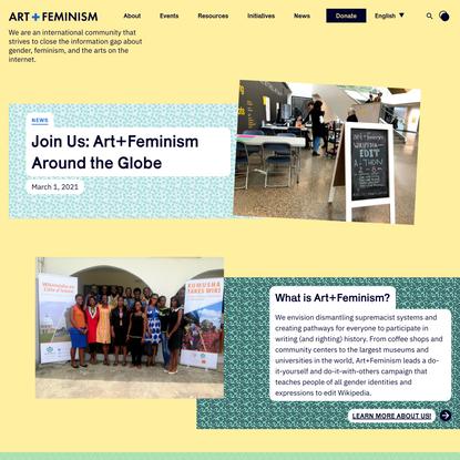 Home - Art + Feminism