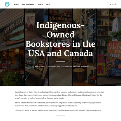 Indigenous-Owned Bookstores in the USA and Canada - Libro.fm Audiobooks