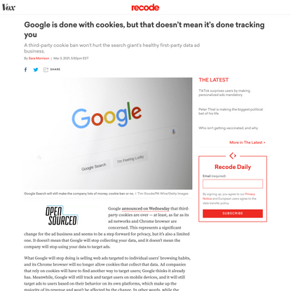 Google is done with cookies, but that doesn't mean it's done tracking you