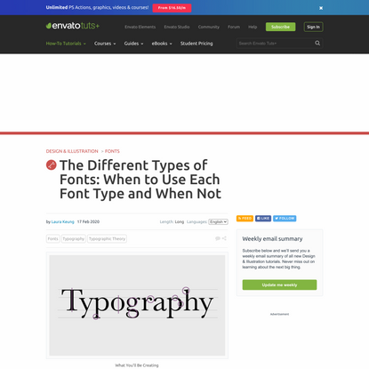 The Different Types of Fonts: When to Use Each Font Type and WhenNot
