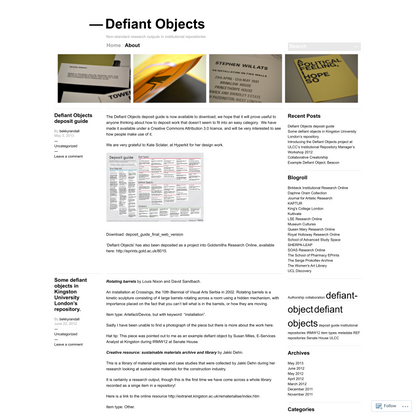 Defiant Objects