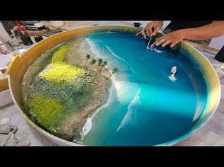 How to make an OCEAN TABLE - Awesome ideas - Epoxy Resin art