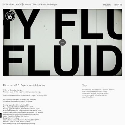 Flickermood 2.0 | Experimental Animation