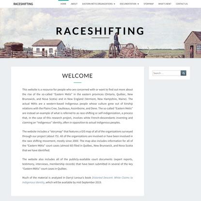 Welcome - Raceshifting
