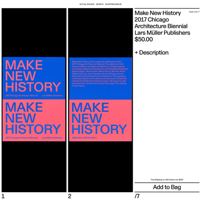 Make New History 2017 Chicago Architecture Biennial