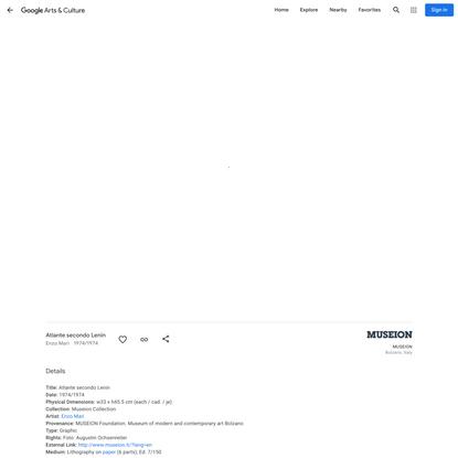 Atlante secondo Lenin - Enzo Mari - Google Arts & Culture