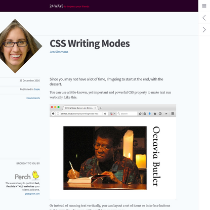 CSS Writing Modes