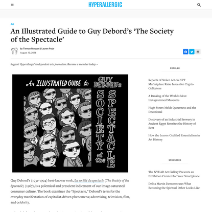 An Illustrated Guide to Guy Debord's 'The Society of the Spectacle'