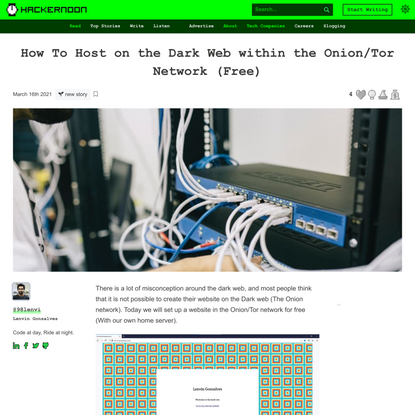 How To Host on the Dark Web within the Onion/Tor Network (Free) | Hacker Noon
