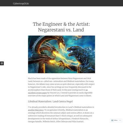 The Engineer & the Artist: Negarestani vs. Land