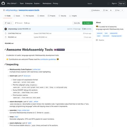 vshymanskyy/awesome-wasm-tools