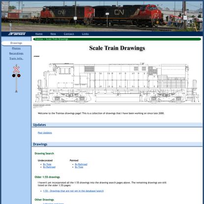 Scale Train Drawings
