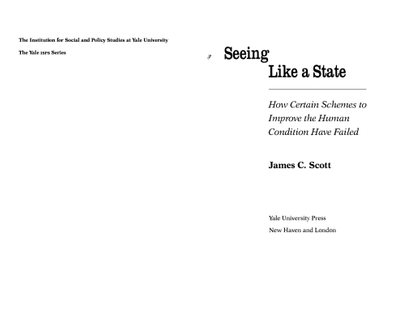 James C. Scott, Seeing Like a State