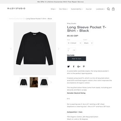 Long Sleeve Pocket T-Shirt - Black