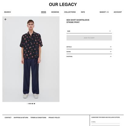 Box Shirt Shortsleeve Strobe Print | Our Legacy