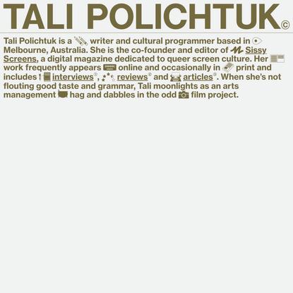 Tali Polichtuk – Writer