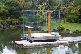 """Glass Tea House """"Mondrian"""", 2014; ©Sugimoto Hiroshi"""