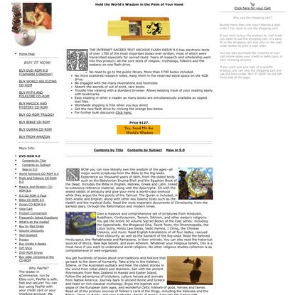 Sacred-Texts Flash Drive 9.0: Main Page