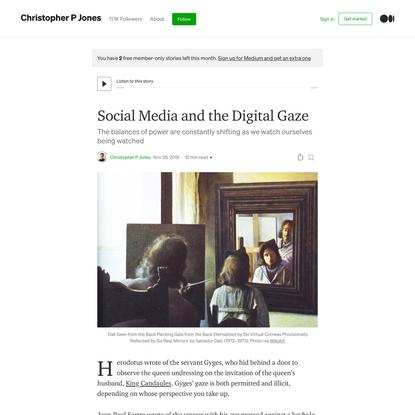 Social Media and the Digital Gaze