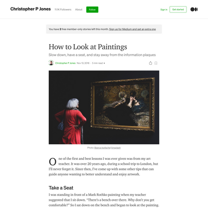 How to Look at Paintings